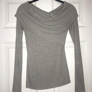 Off the shoulder long sleeved top